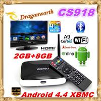 3pcs XBMC fully loaded MK888 Q7 cs918 Android TV Box RK3188 2GB/8GB Quad Core Mini PC Smart TV Media Player with Remote Control