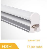 12W 900MM LED T5 Tube Light Super Brightness SMD2835 1200lm 0.9M 90CM Integrated Fluorescent Lamp AC85- 265V 4pcs/lot