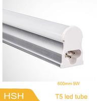 Led Tube Lights 600mm T5 9W Tubes Led SMD 2835 Super Brightness Led Bulbs Fluorescent Tubes 85~265V Constant Current 50pcs/lot