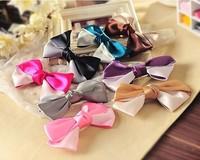 High quality silk cloth ribbon Korea headdress elegant big bowknot hairpin hair wholesale pirce