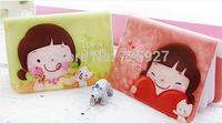 Cheap Hot Wholesale ladies cartoon figure print cute Card bag case Credit card wallet ID card Holder women PVC card purse