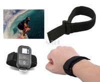 Mini Camcorder Gopro Accessories Black Wrist Belt For Hero 3 Wifi Nylon Remote Hand Velcro Strap Mount Gopro Hero 4 3+