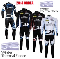 Free shipping 2014 ORBEA Winter Thermal Fleece Cycling Jersey Long Sleeve bib Pants Kits Ropa Ciclismo Clothing MTB Bike 4 style