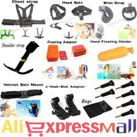 Go-pro Shoulder Strap Mount Sj5000 Sj6000 Sj4000 Camera Go pro Chest Harness Belt Adapter For GoPro hero 4 3 Black Edition