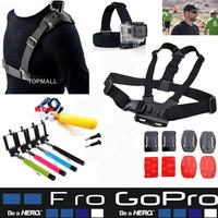 Gopro accessories Chest Harness Strap Sj6000 SJ5000 Sj4000 Gopro Hero1 hero2 Hero3 Hero3+ Hero4 Hero 1 2 3 3+ 4 Black Edition