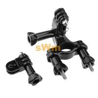 Sj5000 GoproAccessories Go Pro Bike Holder Adapter Set Handlebar Mount For Gopro camera hero 3 3+ 2 hd Black Edition Send Bag