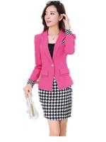 Free Shipping 2014 Autumn new Korean professional women long sleeve skirt suit ,OL business suit female
