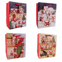 Free Shipping 5piece/lot Santa Claus Gift Bags Gift Series 3D Paste Pieces Of Gift Bags