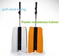 DHL Free Shipping white and saffron yellow Golf Wind fan Golf Power Swing Fan Training PracticeAid Golf Auxiliary Supplies