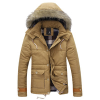 Wadded jacket coat thickening male cotton-padded jacket with a hood male thermal top