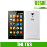 "Original THL T6S 5.0"" MT6582 Quad Core Mobile Phone  Android 4.4.2 8MP Camera 1GB RAM 8GB ROM 3G WCDMA Ultra thin Dual SIM AGPS"