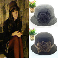 2014 New Wool Fedora autumn and winter wholesale wool hat jazz hat basin England fisherman Trilby Bucket Hat wool atmospher