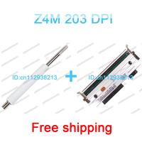 Z4m 203dpi Zebra printhead and z4m zebra roller free shipping 100% new Three months warranty print head