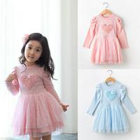 2014 New Summer Girls Dress Fashion Style Girls Beautiful Dress Patchwork Print Princess Dress  K6319