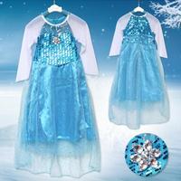 2014 New Summer Girls Fashion Style Girls Beautiful Dress Patchwork Print Princess Dress K6317