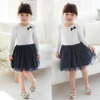 Summer Angle Wings Child Baby Girls' Fashion Clothing Flying Sleeves T-Shirt Mini Layered Dress K6316