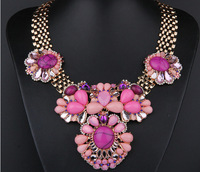 Luxe Faux Stone Choker Necklace Big chunky necklaces Fashion Shourouk Necklace Party Jewelry Statement Necklace  BJN99666