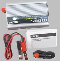 Vehicle 500W Inverter Car Power Inverter Converter DC 12V to AC 220V USB Adapter Portable Voltage Transformer Car Chargers