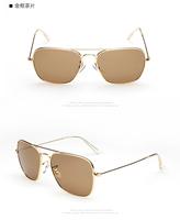 Fshion Classic Vintage Metal Ray Women / Men Aviator 3025 Band Sunglasses Gradient Photochromic rb 3025 materia/glass