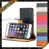 """for iphone 6 & 6 Plus Style A-Wallet Case Real leather, Style B-Flip Case genuine leather for apple iphone 6 4.7"""" & 6 Plus 5.5"""""""