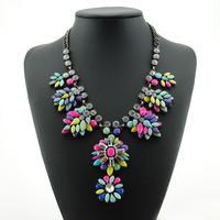 2014 New Fashion Luxury Crystal Chunky Necklaces & Pendants Women Chain Women Statement Necklace Vintage Big Shourouk Jewelry