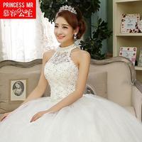 New 2014 fashion wedding dress lace wedding dress Halter Qi Korean free shipping