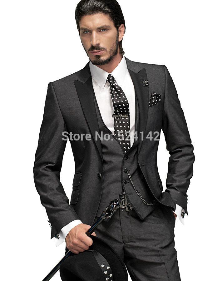 Stylish Wedding Suit For Men Wedding Party Black Men Suits