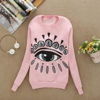 [Alice] HOT ! thin fleece inside cotton women hoodies Big Eyes cartoon sweatshirts for women 4 colors S41 free shipping