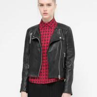 FS2854 Winter New Arrival Fashion European Style Good Quality PU Leather Jacket Coat Long Sleeve