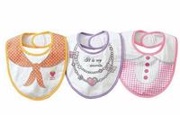 3PCS/lot Cotton waterproof Navy WInd Collar Baby Kids Bibs /Feeding Infant Bib Burp Cloths, Boys / girls design chooseable