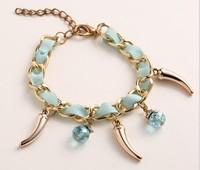 Factory direct sales fashionable metal winding ribbon Bracelet Korea Fashion Bracelet