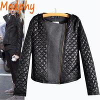 2014 women black cotton padded jackets full sleeve spliced zipper rowtype autumn winter warm short coat drop ship ST107