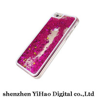 Transparent  Dynamic Liquid Glitter Colorful Paillette Sand Quicksand hard Case Cover For iPhone 5 5S Free Shipping