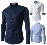 Hot Sale New Brand Men Shirt Long Sleeve Plaid Print Slim Fit Camisas Casual-Shirt Social Hombre Blusas Free Shipping Qy5039