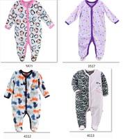 New arrived HOt 2014  Baby Rompers Fleece Foot Cover babywear Baby Sleepwear  -ZW287C