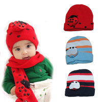Fashion Cute Retail baby Beanie Set Girl Boy Cotton Accessories Bettles Newborn Photography Props Hat Caps Beanies Free Shipping