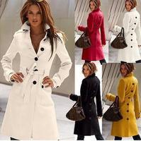 HOT SALE!! autumn winter women's 4 color with S M L XL size Over Coat women Woolen cloth coat LADY'S clothes A481405