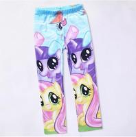2014 new 1 pcs kids trousers cartoon girl pants kids leggings my little pony children leggings kids leggings for girls