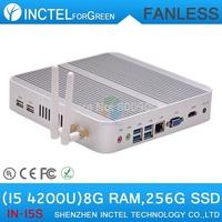 I5 4200u 4K fanless mini itx with Intel Core i5 4200U 1.6Ghz CPU Haswell Architecture SOC design 8G RAM 256G SSD windows Linux