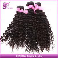 EVAS Hair Product Peruvian Virgin Hair Extension Kinky Curly 3pcs lot  Peruvian Human Hair DHL Free Shipping