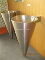 Home hotel bar school cone shape-round stainless steel bathroon pedestal sinks-wash basin