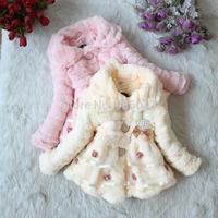 High quality Fashion Winter Autumn Children coat Flower lace Baby outerwear Kids jacket girls winter coat