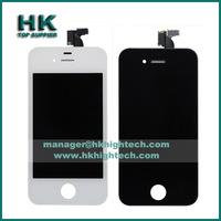 20pcs lot Black White lcd screen touch digitizer with frame assembly for iphone 4s replacement spare parts