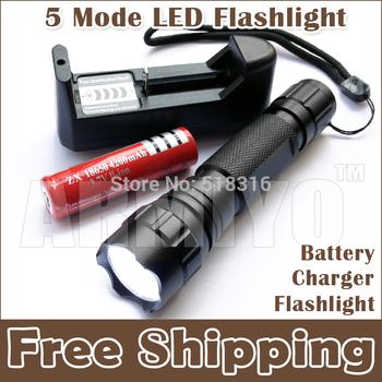 Armiyo 5 режим из светодиодов фонарик + аккумулятор + зарядное устройство, 1300 люмен ...