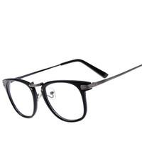 2014 New Students Metal Plain myopia Glasses prescription glasses Optical Spectacles Eyeglasses Frame Glasses