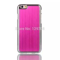 "1pcs/lot Brushed Aluminum Chrome Metal Hard Cover Back Case For Apple iPhone 6 6G iPhone6 i6 4.7"" Protecive Phone Cases"