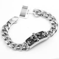 2014 New Men's Stainless Steel Crown Bracelet Classic Jewelry