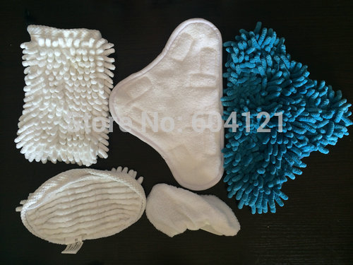 5pcs/kit Steam Cleaner Mop Pads Washable replacement Pads suit for H2O X5 H20(Hong Kong)