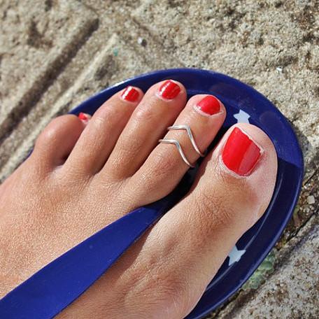 New Fashion Design Handmade Gold Silver Plated Gun black Toe Ring Foot Beach Rings foe Women