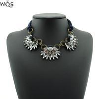 New 2014 Fashion Necklace Shourouk Chain Chunky Choker Statement Necklace & Pendant Fashion Fower Necklace Women
